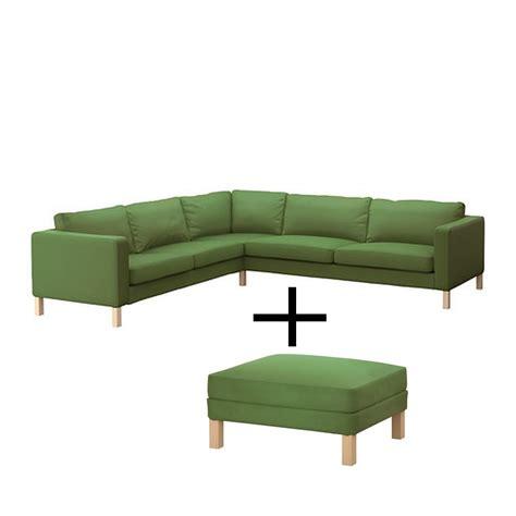 ikea karlstad corner sofa and footstool slipcover cover
