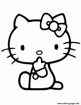 Coloring Kitty Hello Quiet Printable Evil Tongue Keep Colouring Cartoon Visit Adult sketch template