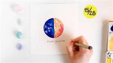 First Quarter moon || Olya Schmidt | Moon cycles, Schmidt ...