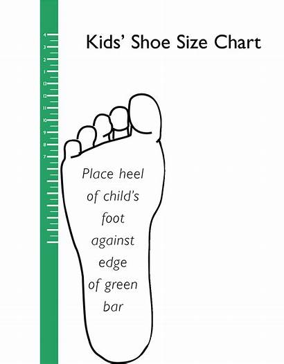 Shoe Chart Printable Clipart Template Children Scope
