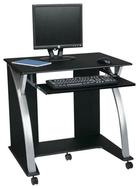 narrow desks for small spaces narrow computer desk for limited space black pvc veneer in