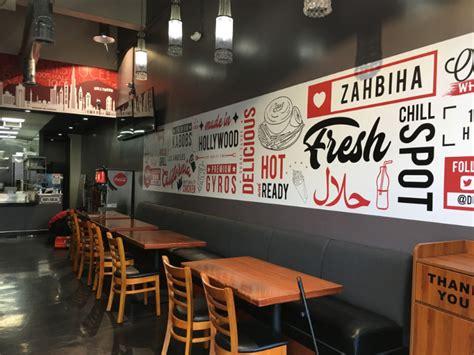 restaurant signs  graphics windows  walls