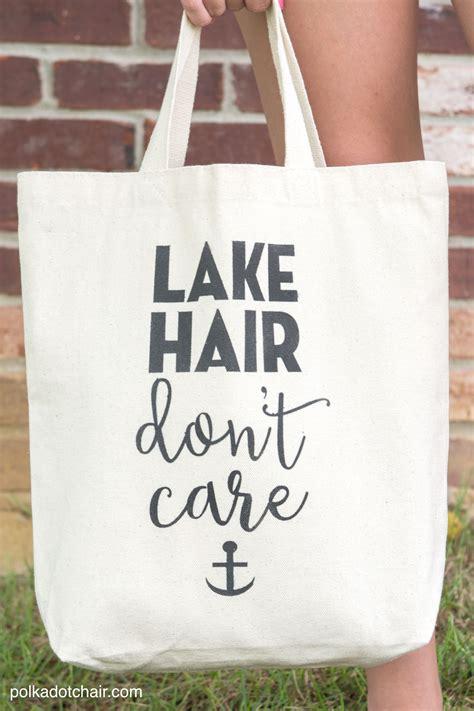 diy stenciled tote bag lake hair dont care  polka