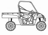 Polaris Ranger Clipart Coloring Drawing Utv Atv Rzr Line Drawings Sheets Seat Mid Sketch Template 17qq sketch template