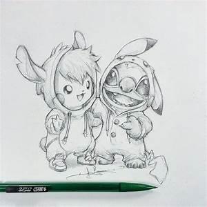 Artist Itsbirdy Pikachu Stitch It39s Birdy
