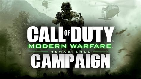 Modern Warfare Remastered Campaign Gameplay! (cod4