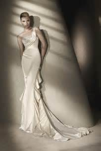 sleek wedding dresses sleek silk ivory wedding dress onewed