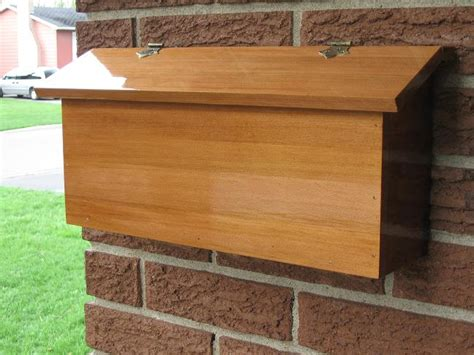 mailbox woodworking plans   build diy woodworking