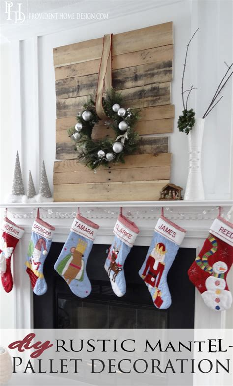diy christmas pallet project   mantel