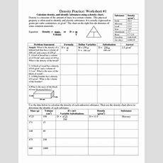 28+ Density Practice Worksheet Answers  Density Worksheet Related Keywords Density Worksheet