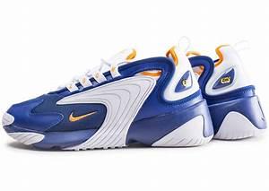Bleu Et Orange : nike zoom 2k bleu et orange chaussures baskets homme chausport ~ Nature-et-papiers.com Idées de Décoration