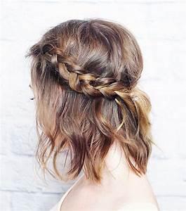 Tuto Coiffure Cheveux Court : 4 tutos de coiffures tress es pour les cheveux courts ~ Melissatoandfro.com Idées de Décoration