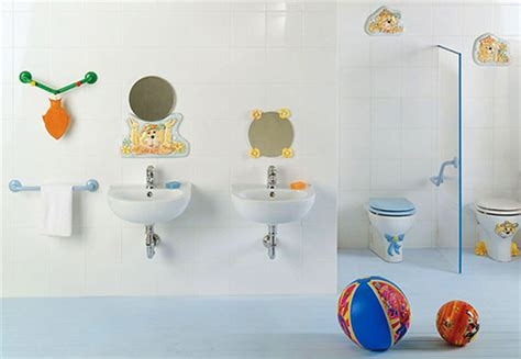 Double Wastafel With Round Mirror Vanity For Amusing Kids
