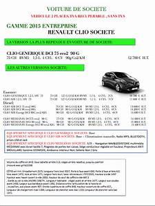 Tva Recuperable Vehicule Utilitaire 5 Places : gamme renault clio societe 2015 tva recuperable et sans tvs ~ Medecine-chirurgie-esthetiques.com Avis de Voitures