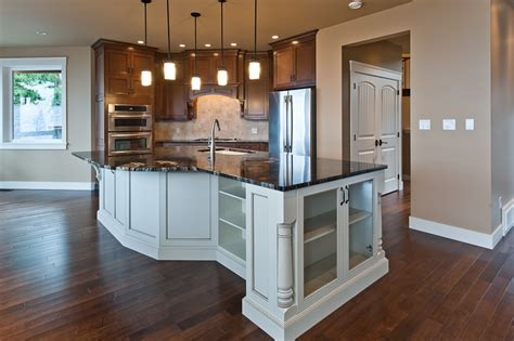 shaped kitchen islands saltair custom home with detached carriage house custom 3604