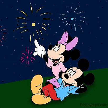 Disney Mouse Mickey Fireworks Minnie Characters Clip