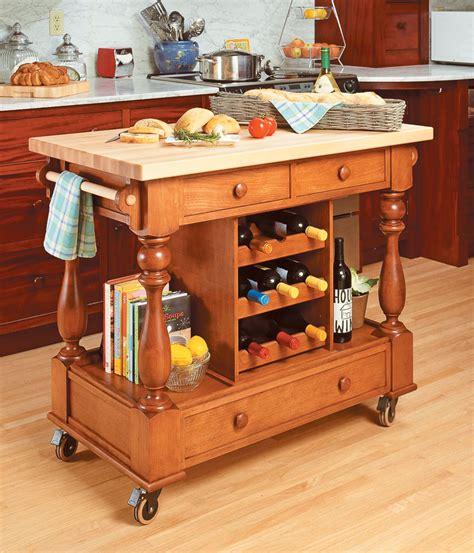 kitchen workstation woodworking project woodsmith plans