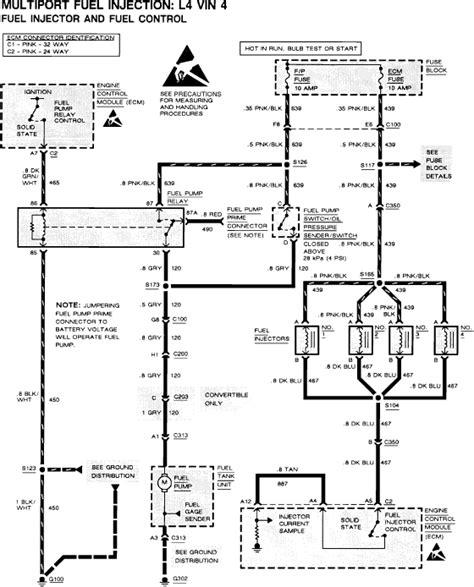 fuel pump location  cavalier   service manual