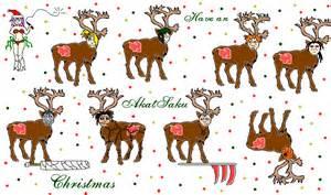 Santa Eight Reindeer Names