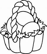 Easter Basket Coloring Pages Easy Colouring Printable Eggs Preschoolers sketch template