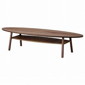 Table Basse Ovale Ikea : stockholm coffee table walnut veneer 180 x 59 cm ikea ~ Melissatoandfro.com Idées de Décoration