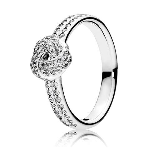 PANDORA Sparkling Love CZ Knot Ring - null | Ben Bridge ...