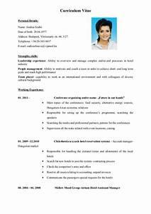 cv english cvs With english cv example