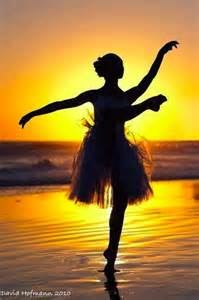 Ballet Dancer On Beach Sunset