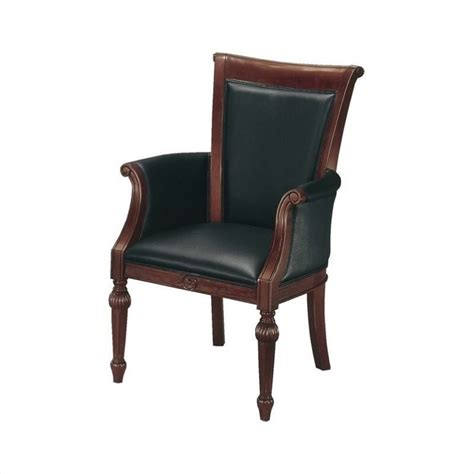 dmi mar high back guest chair in black leather 7302 821