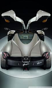Pagani Huayra Gunmetal Top Doors 4K HD Desktop Wallpaper