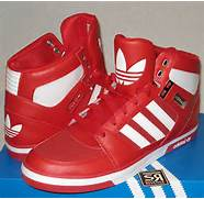 Adidas Originals Men s HARD COURT HI 2 0 Red White Shoes G59666 2 High      Adidas Shoes High Tops Red