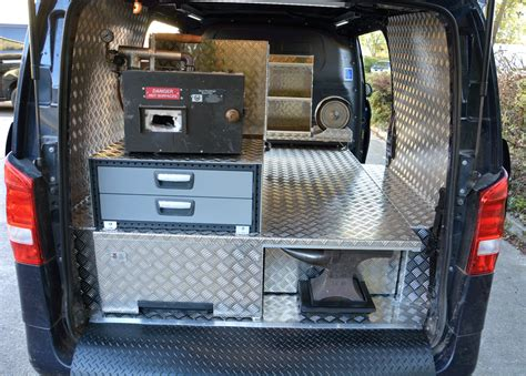 farriers mobile workshop fitted  mercedes vito van