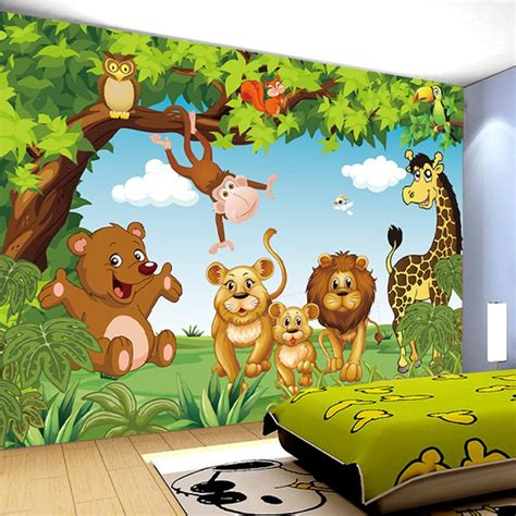cartoon animation child room wall mural  kids room boy