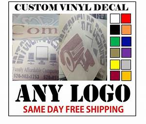 Custom vinyl decals sticker any logo or image fast for Custom mailing stickers