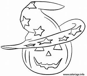 Tete De Citrouille Pour Halloween : coloriage un chapeau de sorciere sur une citrouille dessin ~ Melissatoandfro.com Idées de Décoration