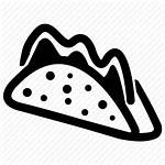 Icon Mexican Tacos Mexico Cuisine Dish Icons