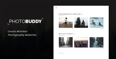 photobuddy photography html template  frenify
