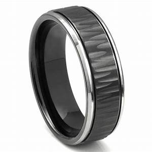 black tungsten carbide 8mm hammer finish newport wedding With wedding ring tungsten