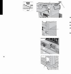 Page 6 Of Dewalt Planer Dw734 User Guide