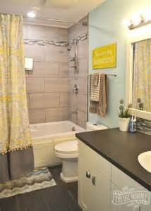 grey and yellow bathroom ideas bathroom reveal and some great tips for post reno clean up the diy