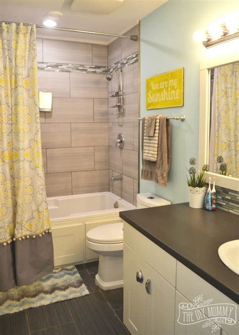 gray and yellow bathroom ideas bathroom reveal and some great tips for post reno
