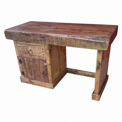 Rustic Desk Computer Furniture Dark Oak Bishop