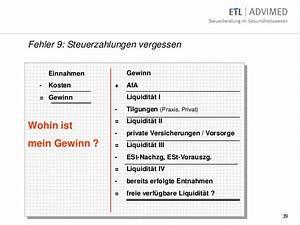 Liquidität Berechnen : 10 gro e fehler bei der niederlassung ~ Themetempest.com Abrechnung