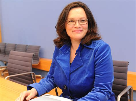 Nahles nackt fakes andrea German politic