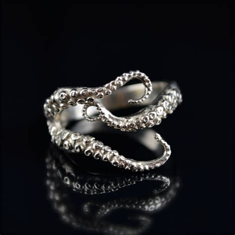 octopus wedding ring holiday sale seductive tentacle ring 14k white gold
