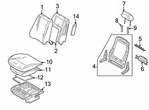 Ford Fusion Headrest Guide  Locking  Seat  Non