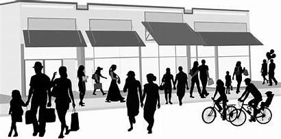 Shopping Crowd Outdoors Sim Cards Clip Prepay