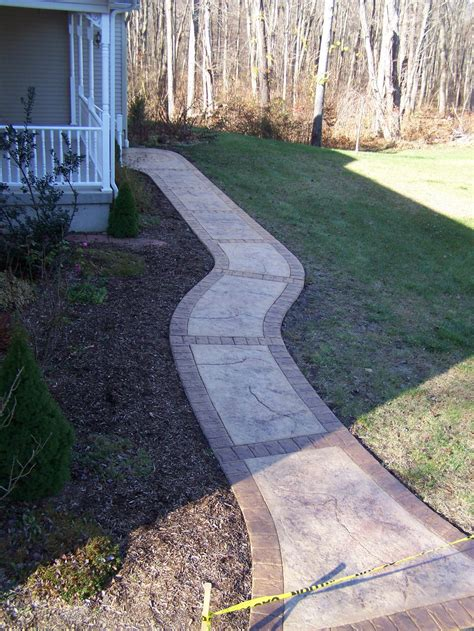 colored concrete walkways gs flatwork llc decorative sted concrete walkways