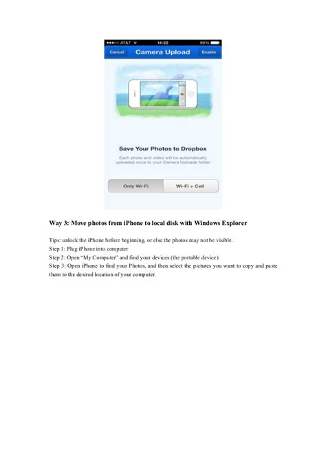 to upload photos from iphone to dropbox how to transfer photos from iphone to pc