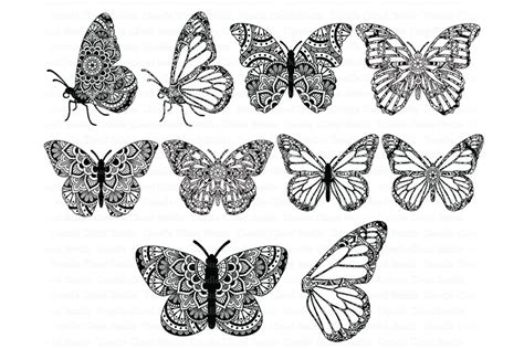 Mandala butterfly svg zentangle, mandala butterfly svg, files for silhouette cameo and cricut, mandala butterfly clipart, butterfly svg you'll receive: Mandala Butterfly SVG Zentangle File | Pre-Designed ...